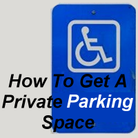 How to get a private parking space